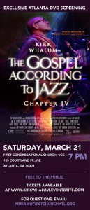 Kirk Whalum DVD Screening Poster