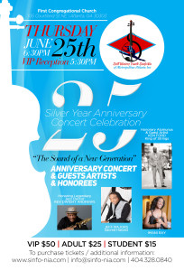 Sinfo-Nia Orch 25th Anniversary Concert Flyer