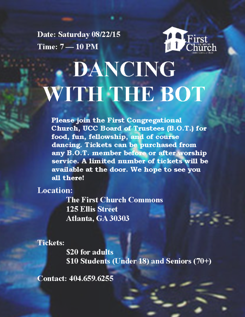 Web sized version..Dancing with the BOT with dancing images flyer