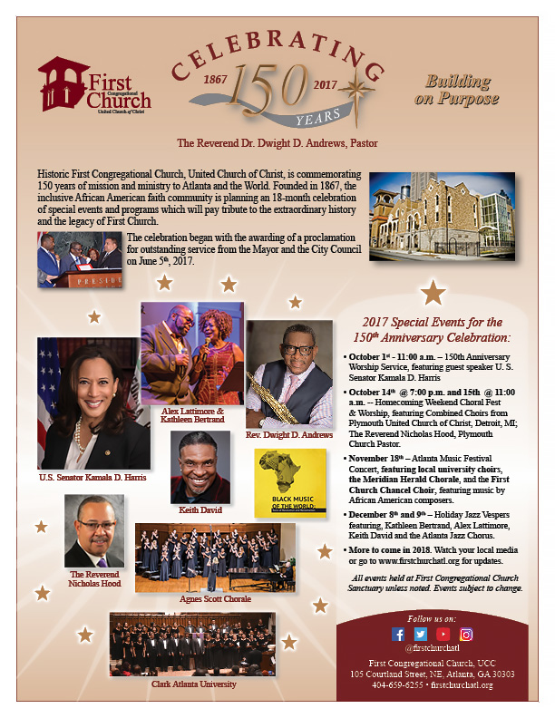 150th Anniversary Service, Homecoming & Holiday Jazz Vespers 2017