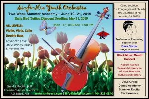 "Sinfo-Nia Youth Orchestra ""Two-Week Summer Academy"" @ First Congregational Church - Fellowship Hall / Classrooms"