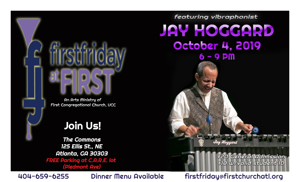 First Friday at First Featuring Jay Hoggard – October 4, 2019