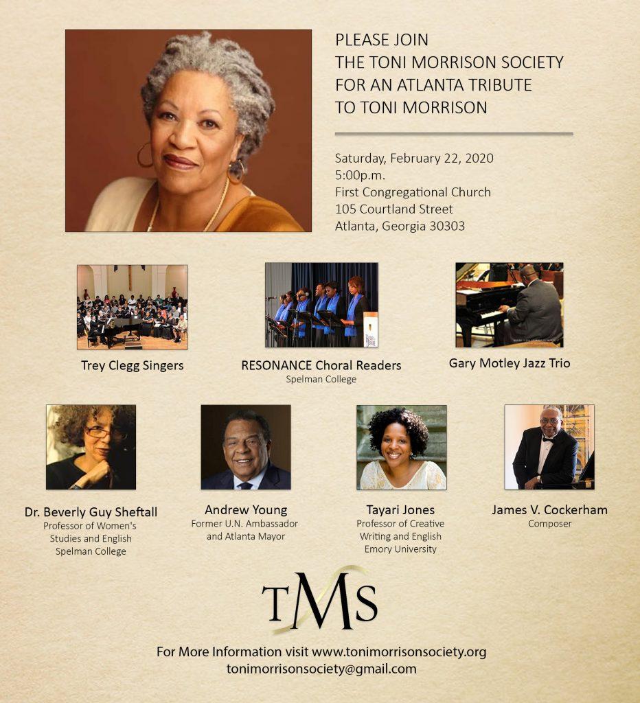 The Toni Morrison Society Presents – An Atlanta Tribute to Toni Morrison