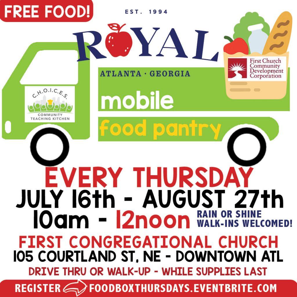 Royal Mobile Food Pantry – FREE Food Giveaway