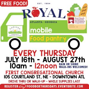 Royal Mobile Food Pantry - FREE Food Giveaway @ First Church Parking Lot