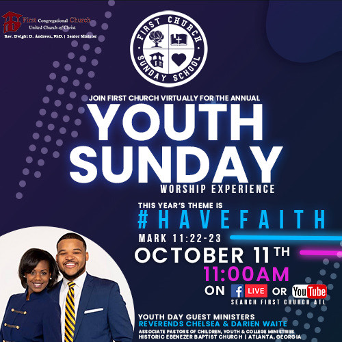 First Church Annual Youth Sunday – October 11, 2020